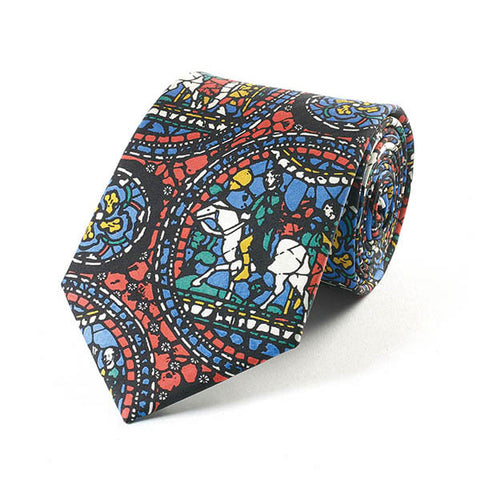 Stained Glass Silk Tie