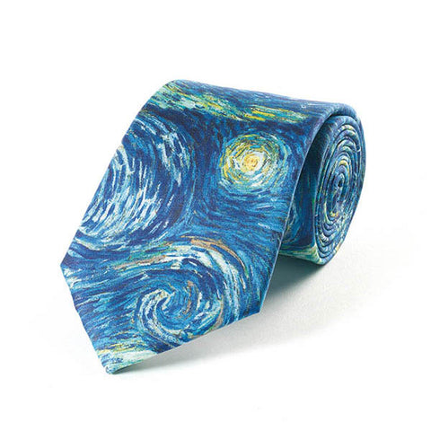 Van Gogh Starry Night Silk Tie