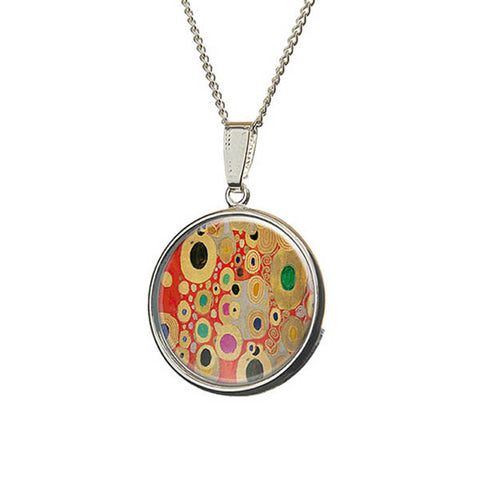 Klimt Red Pendant