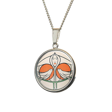Mackintosh Lady with Doves Pendant