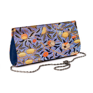 Morris Blue Fruit Silk Clutch Bag
