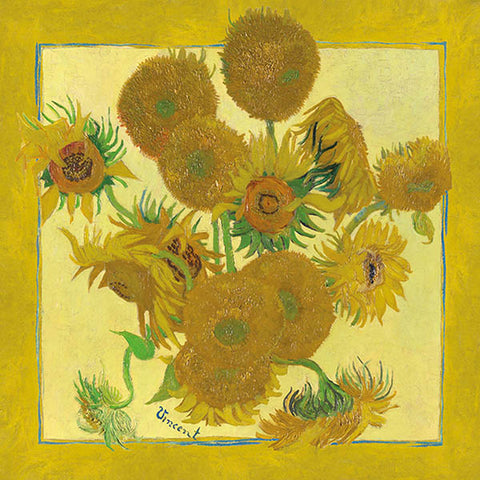 Van Gogh Sunflowers Silk Square