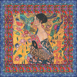 Klimt Lady with the Fan Silk Square flat