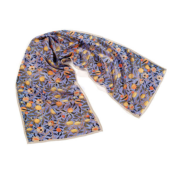 Morris Blue Fruit Crêpe de Chine Scarf