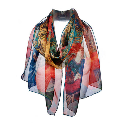 Burne Jones Laus Veneris Chiffon Scarf