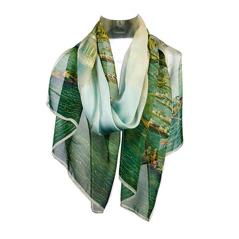 Canaletto Thames Chiffon Scarf