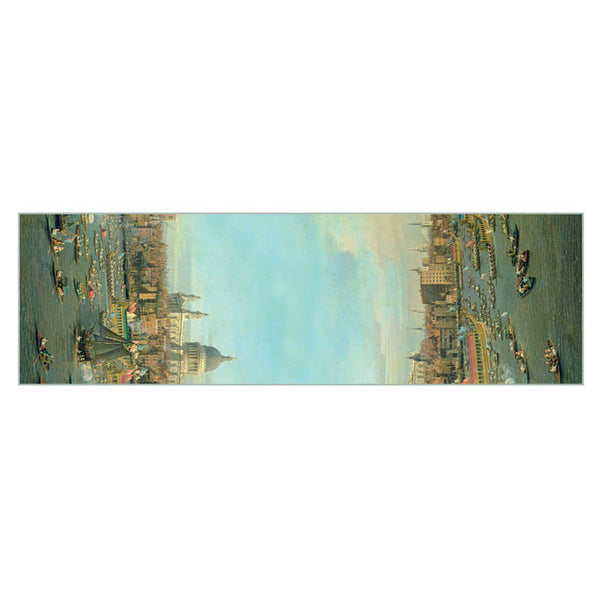 Canaletto Thames Chiffon Scarf Flat
