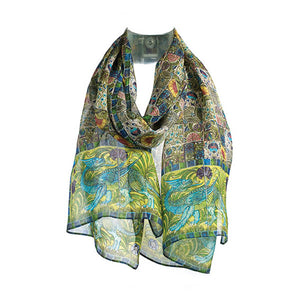 De Morgan Tiles Chiffon Scarf