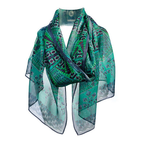 Egyptian Ornament Chiffon Scarf