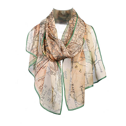 London Map Chiffon Scarf