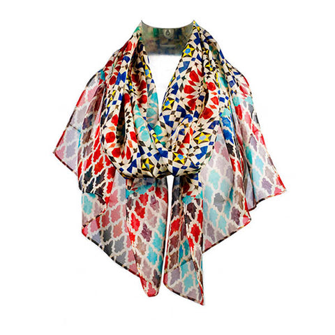 Marrakesh Red Chiffon Scarf