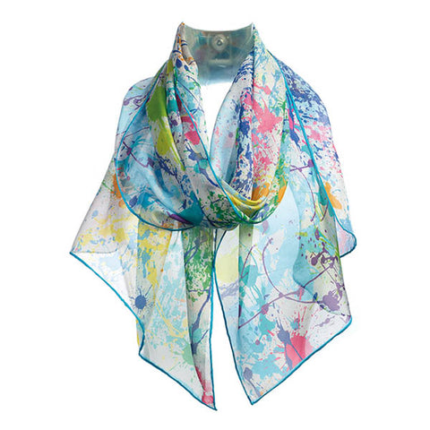Paint Splash Chiffon Scarf