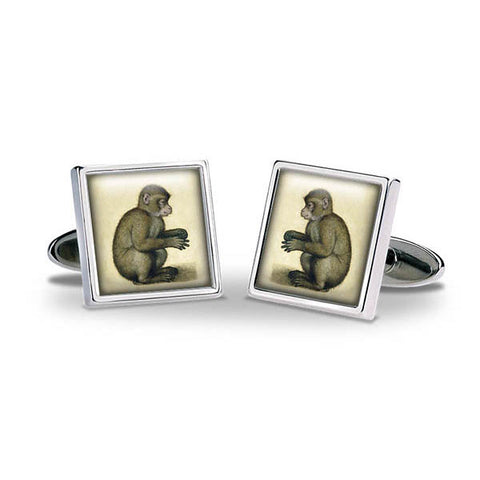 Durer Monkey Cuff Links