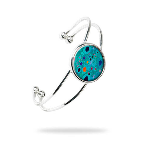 Klimt Turquoise Bangle