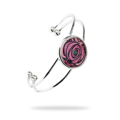 Rose & Teardrop Bangle