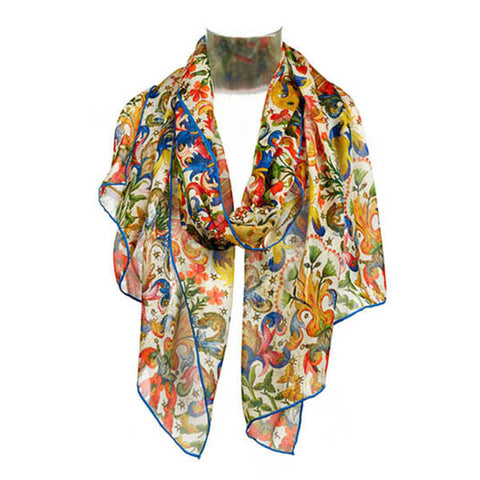 Book of Hours Chiffon Scarf