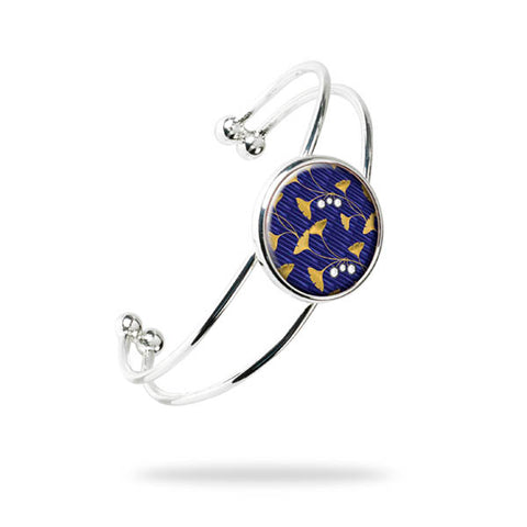Enamel Gingko Bangle