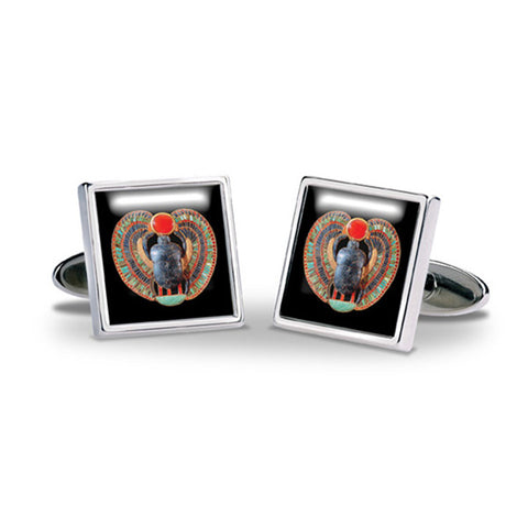 Egyptian Scarab Cuff Links