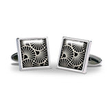 Deco Gingko Cuff Links