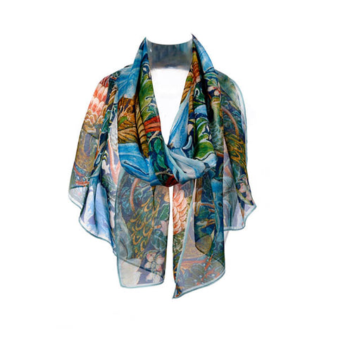 Arts & Crafts Birds Chiffon Scarf