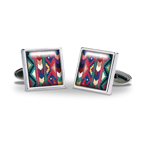 Aztec Cuff Links