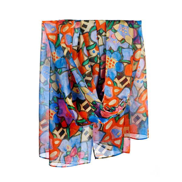 Mackintosh Flowers Habotai Silk Wrap