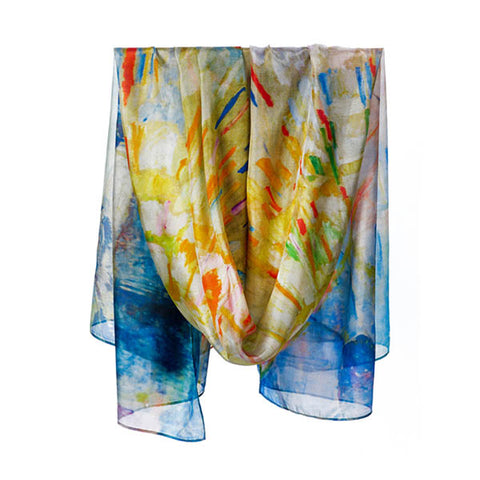 Munch Sunset Habotai Silk Wrap