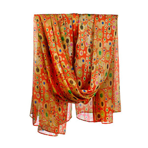 Klimt Red Habotai Silk Wrap