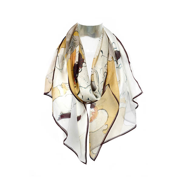 Toulouse Lautrec Can Can Chiffon Scarf
