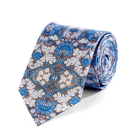 Morris St. James Blue Silk Tie