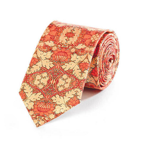 Morris St. James Coral Silk Tie