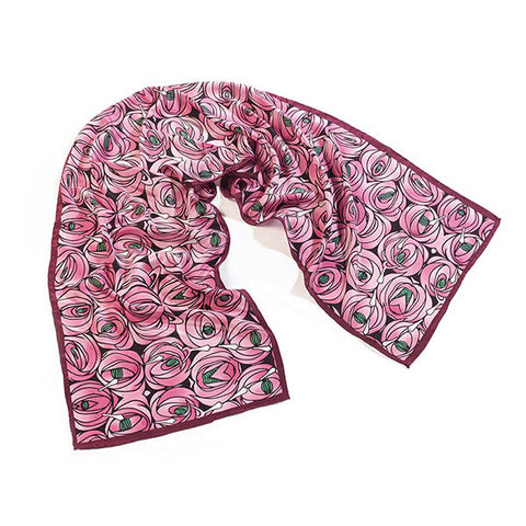 Mackintosh Rose & Teardrop Crêpe de Chine Scarf