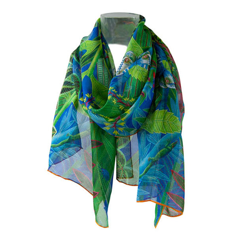 Tropical Jungle Chiffon Scarf