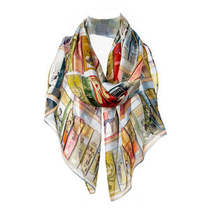 Booklovers Chiffon Scarf
