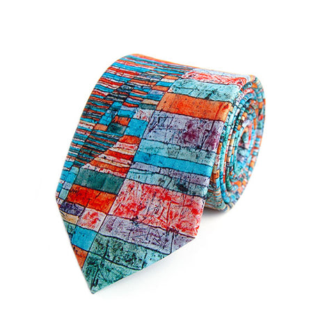 Paul Klee Roads Silk Tie
