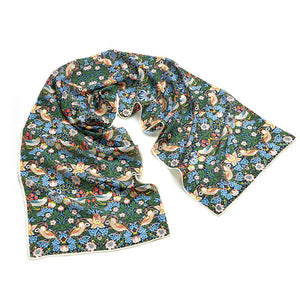 Morris Strawberry Thief Crêpe de Chine Scarf