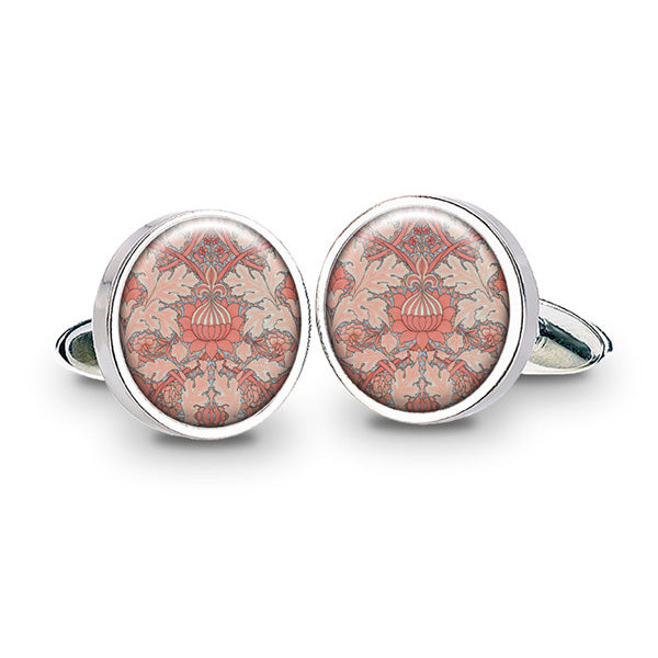 Morris St. James Coral Cuff Links