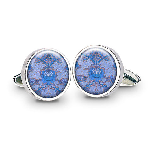 Morris St. James Blue Cuff Links