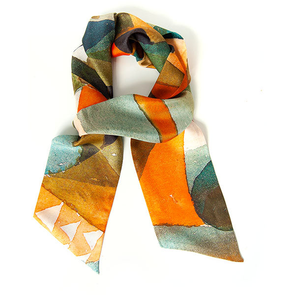 Paul Klee Composition Skinny Silk Scarf