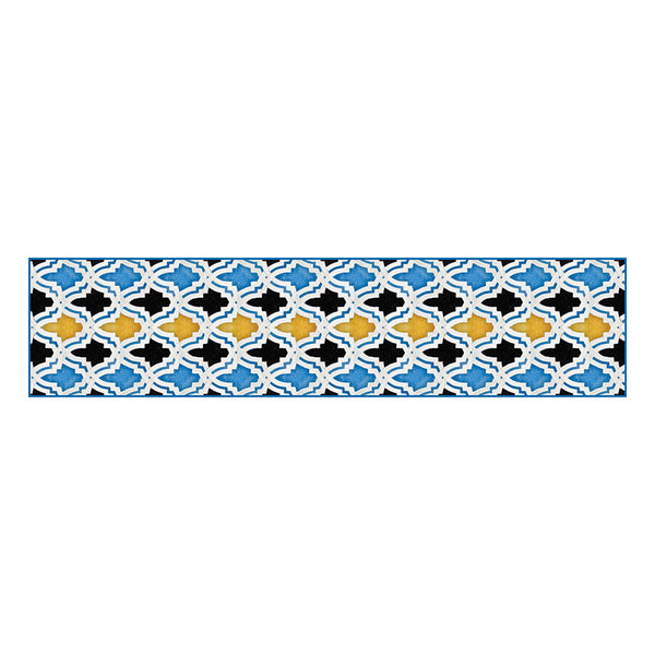Moroccan Tiles Silk Habotai Scarf Flat Artwork