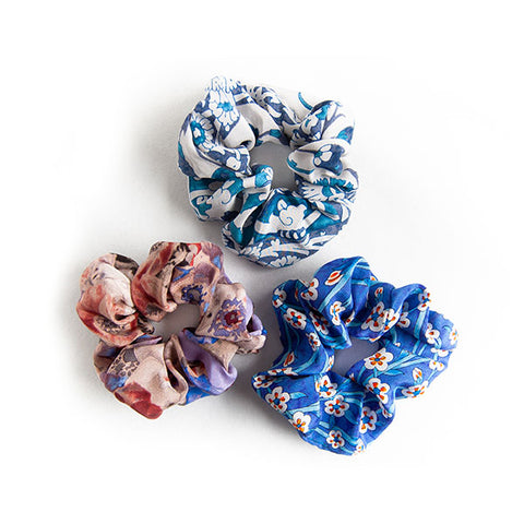 'Bianca' - Set of 3 Silk Scrunchies