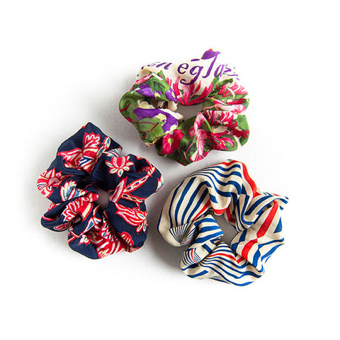 'Cassy' - Set of 3 Silk Scrunchies
