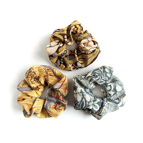 'Diana' - Set of 3 Silk Scrunchies