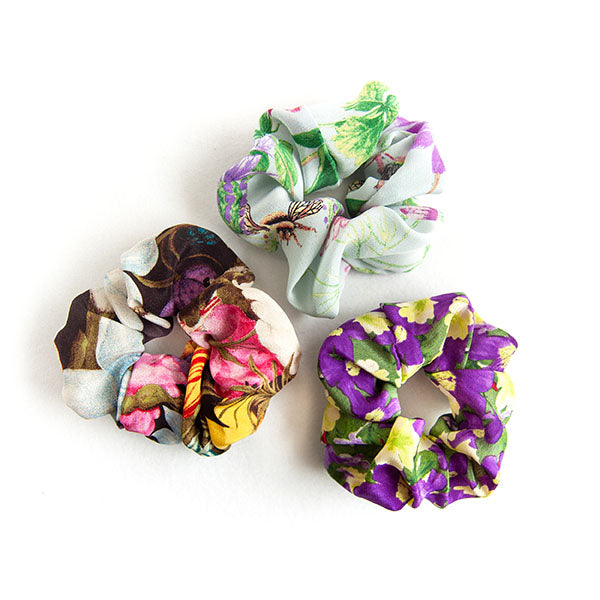 'Emily' - Set of 3 Silk Scrunchies