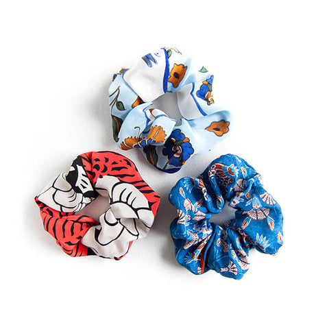 'Grace' - Set of 3 Silk Scrunchies