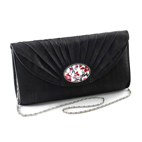 Black Cameo Clutch