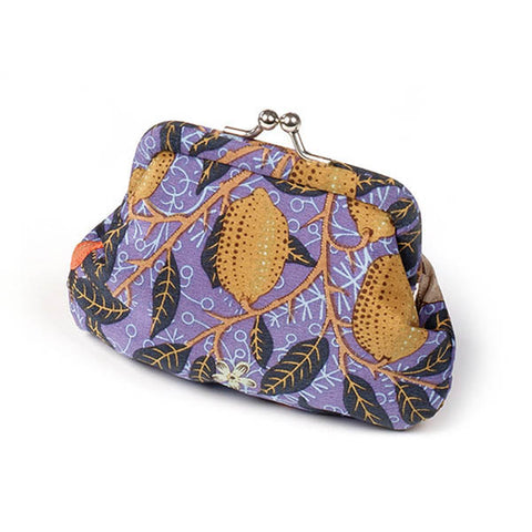 Morris Blue Fruit Silk Coin Purse