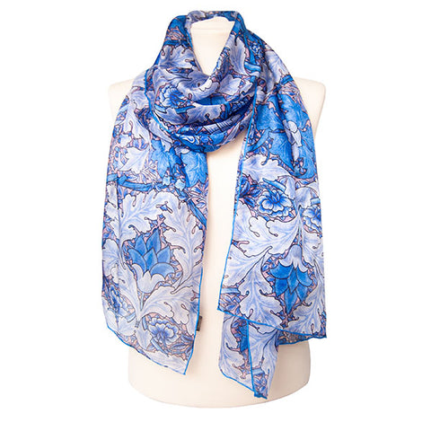 Morris St. James Blue Habotai Scarf