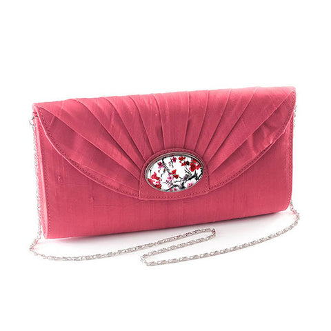Pink Cameo Clutch