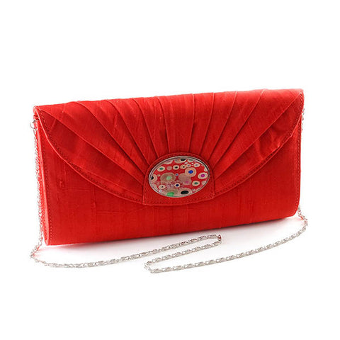 Red Cameo Clutch
